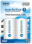 2x akumulatorki everActive R20/D Ni-MH 10000 mAh ready to use
